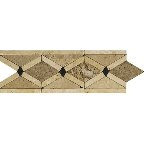 "Emser Tile Natural Stone 12"" x 4"" Arctic Travertine Listello"
