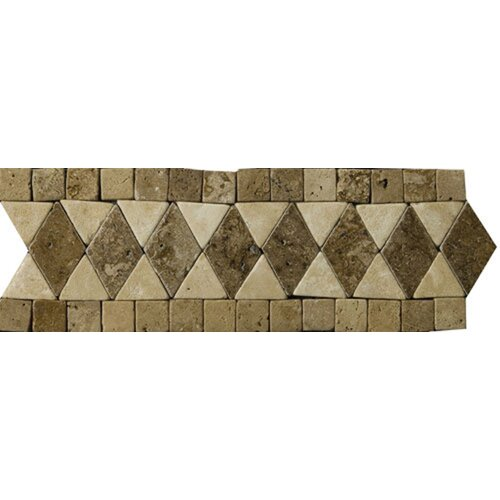 "Emser Tile Natural Stone 12"" x 4"" Pisa Travertine Listello"