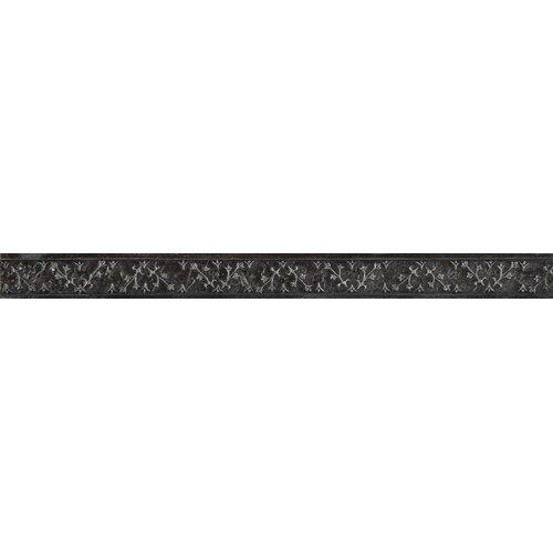 """Emser Tile Camelot 12"""" x 1"""" Guinevere Liner in Iron"""