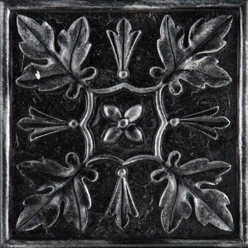 "Emser Tile Camelot 4"" x 4"" Arthur Deco in Iron"