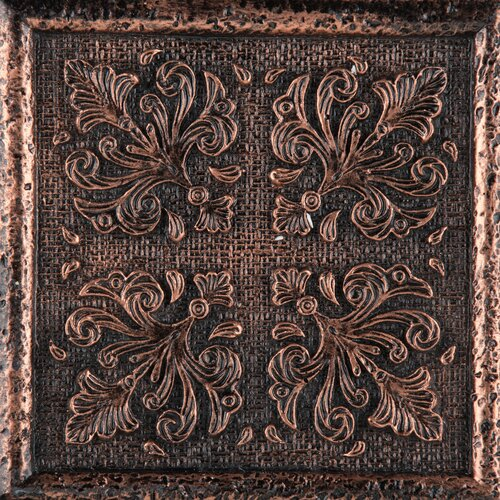"Emser Tile Camelot 4"" x 4"" Merlin Deco in Copper"