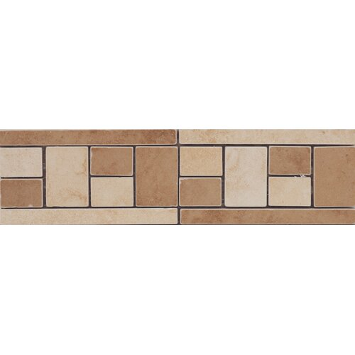 Emser Tile Coliseum Random Sized Glazed Porcelain Tile in Multi