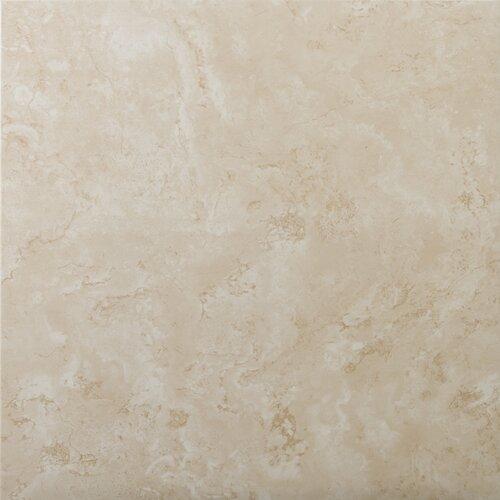 Emser tile cordova 13 x 13 glazed ceramic tile in avorio for 13x13 ceramic floor tiles