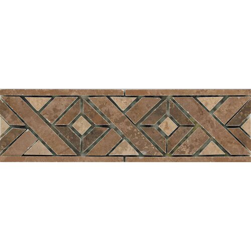 "Emser Tile Madrid 13"" x 4"" Glazed Porcelain Tile Listello in Multicolor"