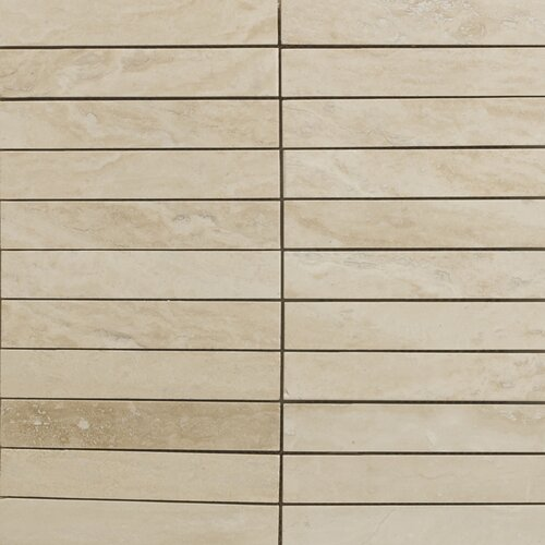 Emser Tile Natural Stone Vein Cut Travertine Mosaic in Dore Select