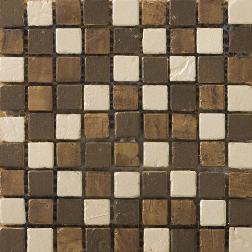 Emser Tile Treasure Metal Coated Travertine Mosaic Blend in Bounty