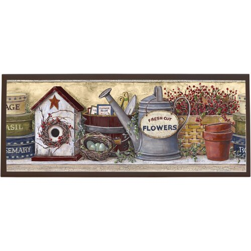 Illumalite Designs Garden Shelf Graphic Art on Plaque