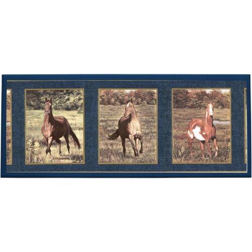 Illumalite Designs Majestic Horses Graphic Art on Plaque