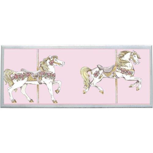 Toile Carousel Framed Graphic Art