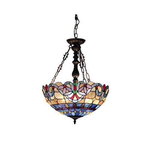 Victorian 2 Light Grenville Inverted Ceiling Pendent