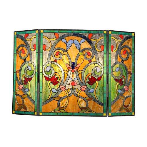 Victorian 3 Panel Myrtle Fireplace Screen