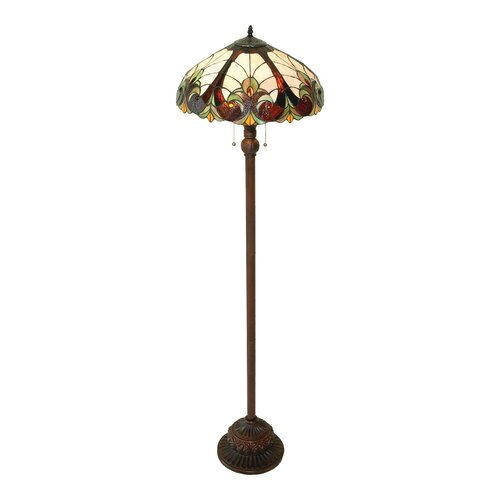 lighting tiffany style victorian floor lamp with 300 glass pieces. Black Bedroom Furniture Sets. Home Design Ideas