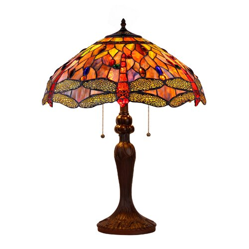 "Chloe Lighting Dragonfly 25"" H 2 Light Table Lamp"