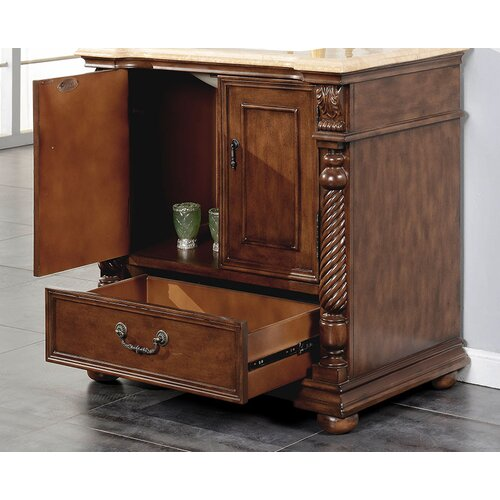 Silkroad Exclusive Bravia 36'' Single Bathroom Vanity Set