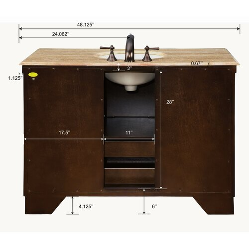 "Silkroad Exclusive Albany 48"" Single Bathroom Vanity Set"