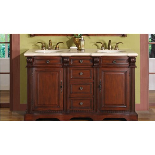 silkroad exclusive olivia 58 double bathroom vanity set