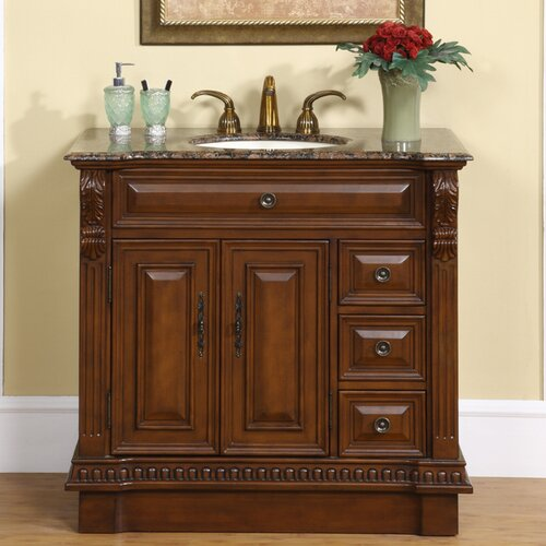 "Silkroad Exclusive Millstone 38"" Single Bathroom Vanity Set"