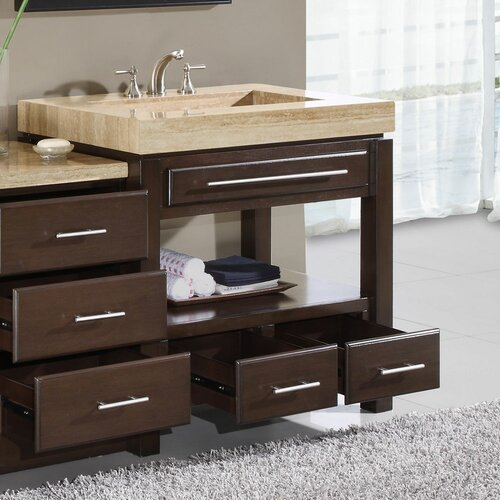 "Silkroad Exclusive Chester  56"" Single Bathroom Vanity Set"