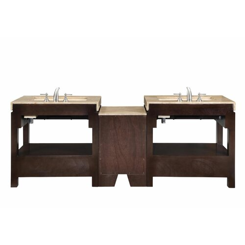 "Silkroad Exclusive Chester 92"" Double Bathroom Vanity Set"