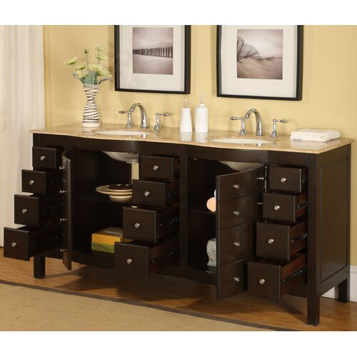 Silkroad Exclusive Lancaster 72 Double Bathroom Vanity