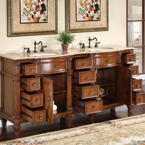"Silkroad Exclusive Blair 72"" Double Bathroom Vanity Set"