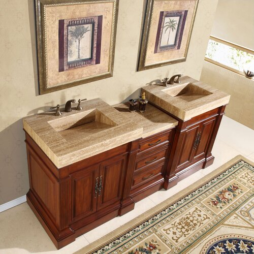 "Silkroad Exclusive Stanton 83"" Double Sink Bathroom Vanity Set"