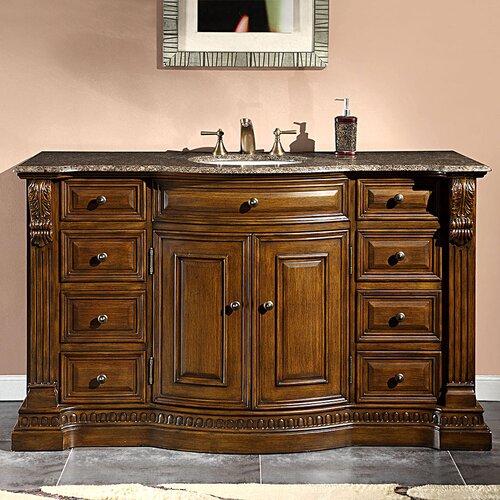 "Samantha 60"" Single Sink Cabinet Bathroom Vanity Set"