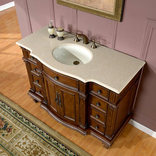 "Silkroad Exclusive Esther 48"" Single Bathroom Vanity Set"