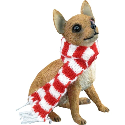 Tan Chihuahua Christmas Ornament