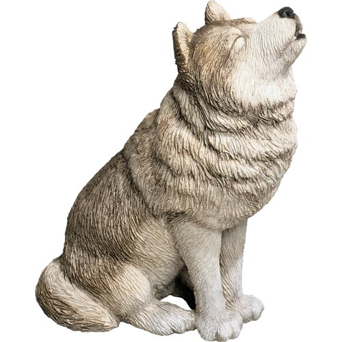 Mid Size Howling Wolf Sculpture