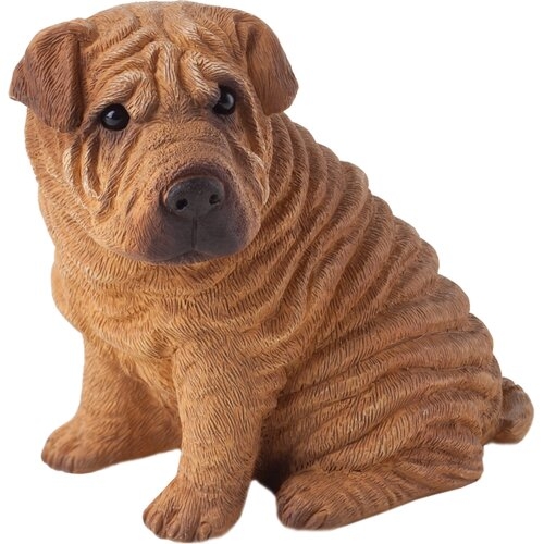 Sandicast Small Size Chinese Shar-Pei Sculpture