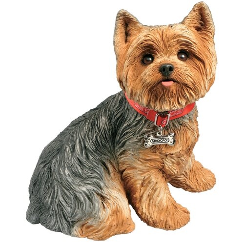 Sandicast Life Size Sculptures Yorkshire Terrier Figurine