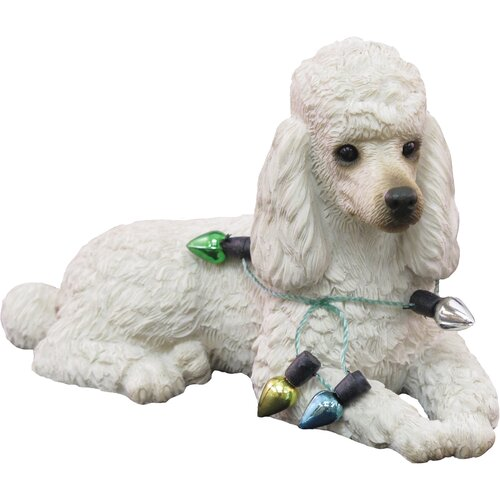 Sandicast Lying Poodle Christmas Ornament