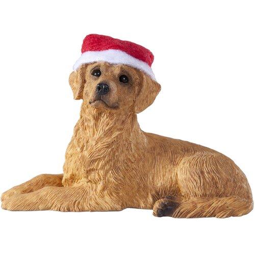 Lying Retriever Christmas Ornament