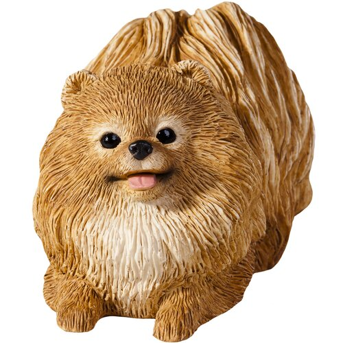 Sandicast Small Size Sculptures Pomeranian Figurine