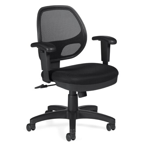 Offices To Go Low-Back Mesh Office Chair with Arms