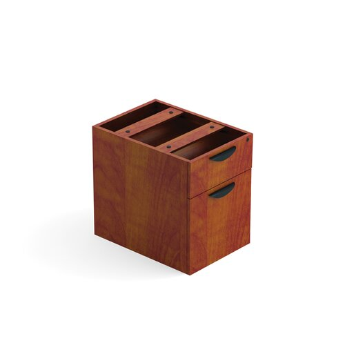 Offices To Go Laminate Half Pedestal in Mahogany or Cherry
