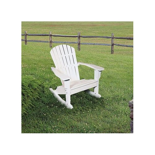 Seaside Casual Adirondack Shell Back Rocking Chair - EnviroWood