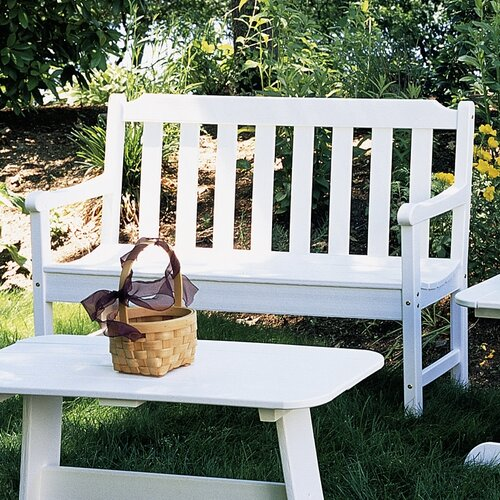 Seaside Casual Newport Plastic Garden Bench