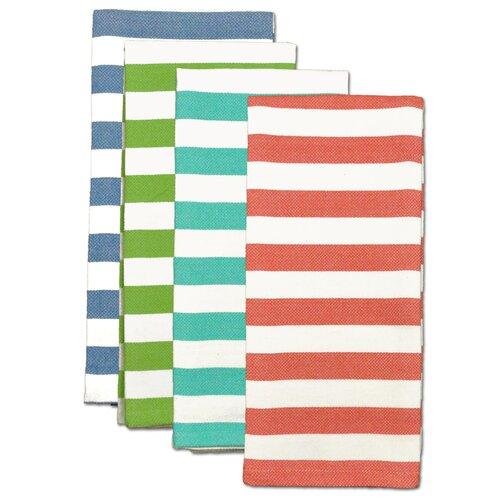 4 Piece Cabana Stripe Heavyweight Dishtowel Set