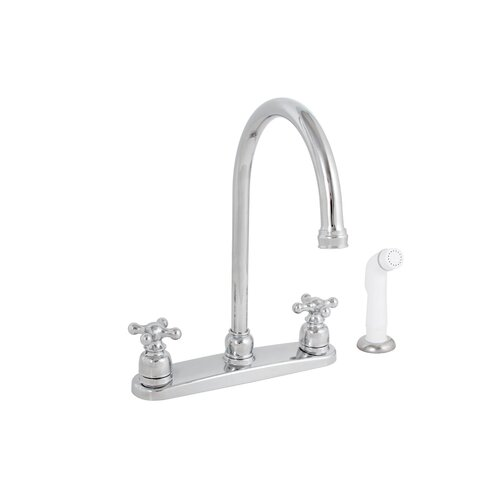 Sanibel Two Handle Centerset Kitchen Faucet with Spray