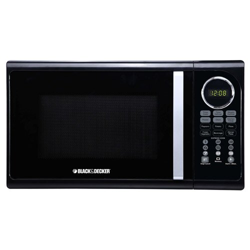 black decker 0 9 cu ft 900w microwave reviews wayfair. Black Bedroom Furniture Sets. Home Design Ideas