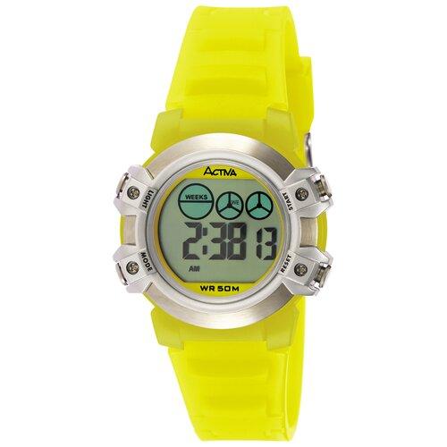 Midsize Digital Watch in Yellow