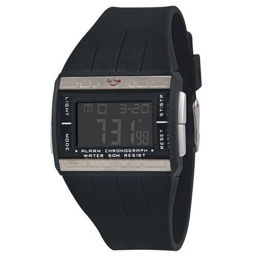 Women's Plastic Digital Multi-Function Watch in Black