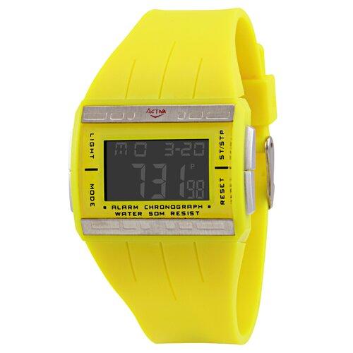 Women's Plastic Digital Multi-Function Watch in Yellow