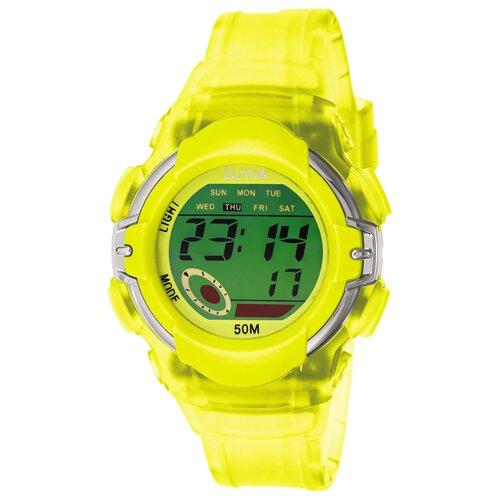 Midsize Plastic Digital Multi-Function Watch in Yellow
