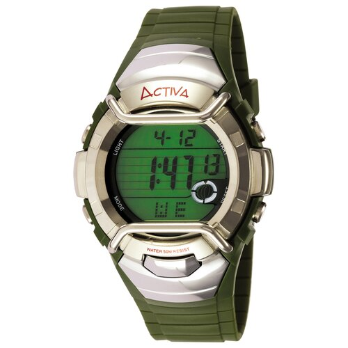 Men's Multi-Function Watch in Dark Green Plastic
