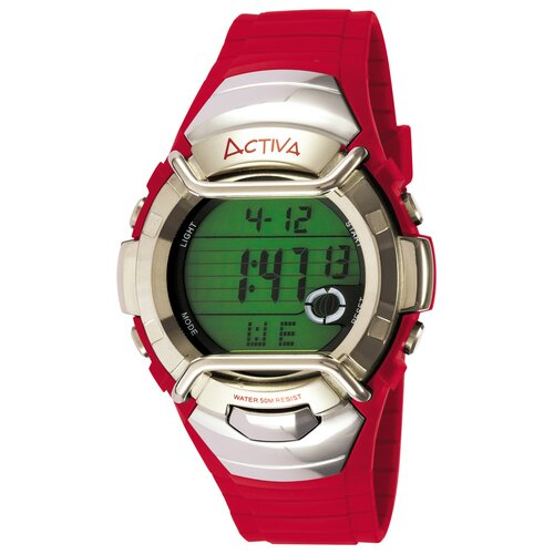Men's Multi-Function Watch in Red Plastic