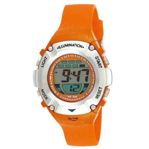 Midsize Digital Watch in Orange Plastic Watch