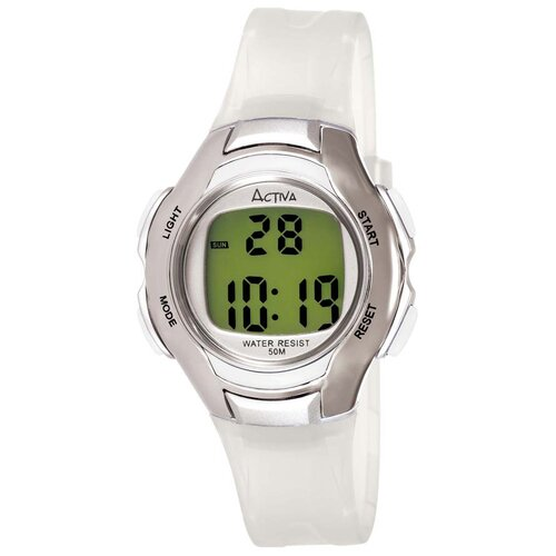 Women's Digital Multi-Function Watch in White Transparent